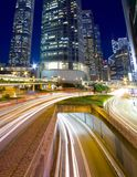 Busy traffic in downtown of Hong Kong. Show the bright side of Hong Kong - Pearl of the East Stock Image