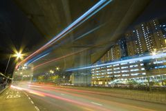 Busy traffic in downtown of Hong Kong Royalty Free Stock Photography