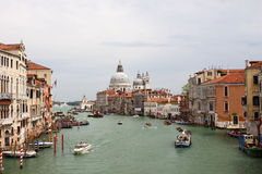 Busy traffic in the Grand Canal Stock Photography