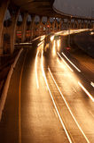 Busy traffic on highway  at night. Stock Photo