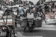 Traffic in Ho Chi Minh City Saigon royalty free stock photo