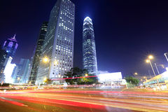 Busy traffic in Hong Kong city Stock Images