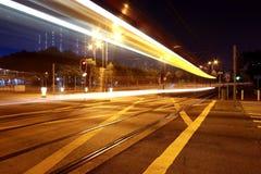 Busy traffic in Hong Kong at night Royalty Free Stock Image