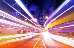 Busy traffic in Hong Kong Stock Photography