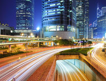 Busy traffic in Hong Kong Stock Image