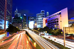 Busy traffic in Hong Kong Royalty Free Stock Photo