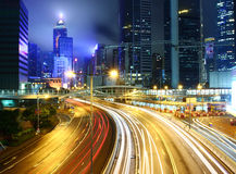 Busy traffic in Hong Kong Stock Photos
