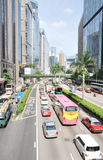 Busy traffic in Hongkong street Stock Image