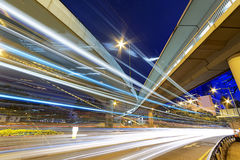 Busy traffic night Stock Images