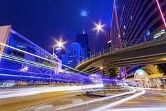 Busy traffic night Stock Photo