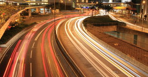 Busy traffic at night Royalty Free Stock Photography