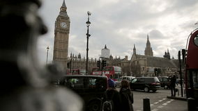 Busy Traffic on Parliament Square London Royalty Free Stock Photography