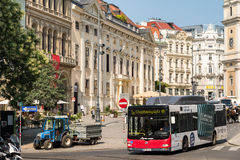 Busy Traffic And People On Downtown Streets Of Vienna Royalty Free Stock Photos