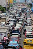 Busy traffic during rush hour in Jakarta, Indonesia Royalty Free Stock Images