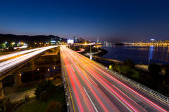 Busy traffic in Seoul city Royalty Free Stock Photography