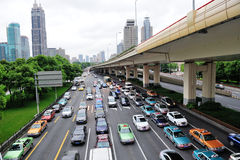 Busy traffic in Shanghai Royalty Free Stock Image