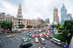 Busy traffic in Shanghai Royalty Free Stock Photos