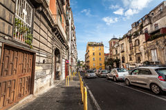 Busy traffic on streets of central Naples. Stock Photos