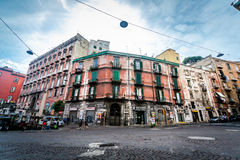 Busy traffic on streets of central Naples. Royalty Free Stock Photos