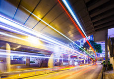 Busy traffic in tunnel Royalty Free Stock Photos