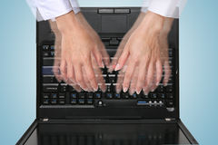 Busy Typing Royalty Free Stock Photography
