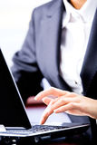 Busy typing Royalty Free Stock Photo