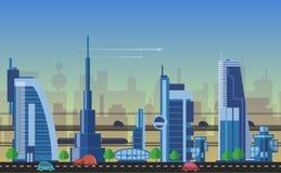 Busy urban cityscape templates Royalty Free Stock Photos