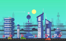 Busy urban cityscape templates  Royalty Free Stock Image