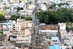 Busy urban town - Trichy royalty free stock photo