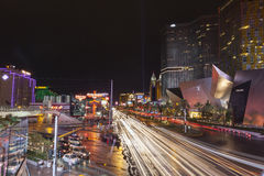 Busy Vegas strip after a storm in Las Vegas, NV on July 19, 2013 Stock Photos