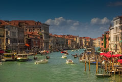 Busy venetian Grand Canal, Venice, Italy Stock Images
