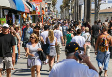 Busy Venice Beach Boardwalk Stock Photos