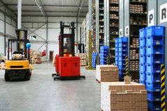 Busy warehouse Stock Images