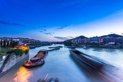 Busy waterway transport in china south Stock Images