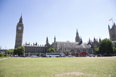 Busy westminster with Big Ben stock photography