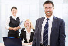 Busy white collar workers Royalty Free Stock Photos