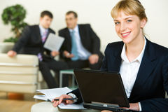 Busy woman Stock Photography
