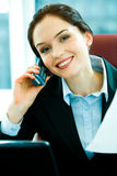 Busy woman Stock Photo