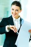 Busy woman Stock Images