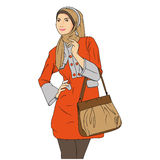 Moslim Woman Shopping Royalty Free Stock Images