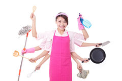 Free Busy Woman Mother Stock Photos - 39870473