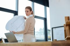 Concentrated engineer working on new project Royalty Free Stock Images