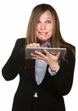 Busy Woman Works On a Tablet Royalty Free Stock Photo