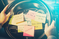 Busy work do post notes list chaotic concept Royalty Free Stock Photo