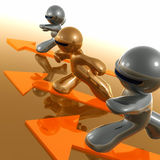 Busy worker paths icon Stock Photos