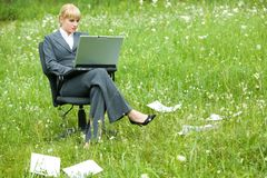 Busy working Royalty Free Stock Photo
