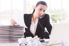 Busy working. Royalty Free Stock Photo