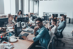 Busy working day. royalty free stock images