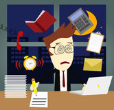 Busy Working Late Royalty Free Stock Images