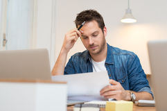 Busy working Royalty Free Stock Image